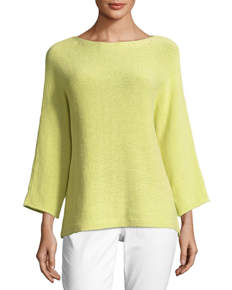 Eileen Fisher Cozy Organic Cotton Box Top