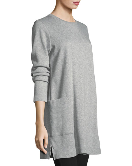 Single-Pocket Cotton Tunic, Petite