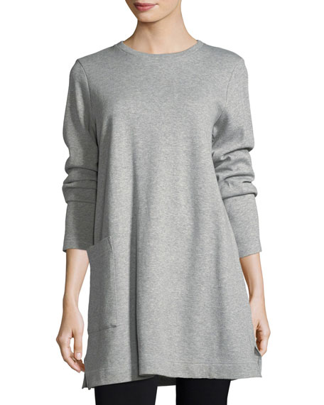 Eileen Fisher Single-Pocket Cotton Tunic