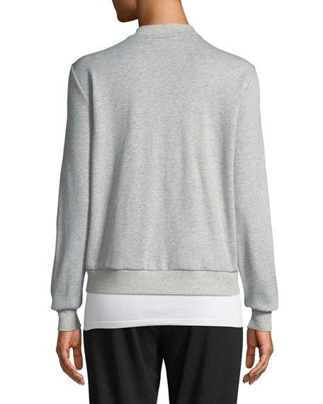 Organic Cotton/Silk Bomber Jacket, Petite