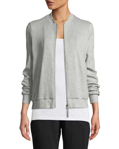 Organic Cotton/Silk Bomber Jacket, Plus Size