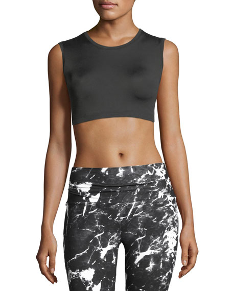 Sleeveless Performance Crop Top