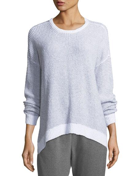 Eileen Fisher Peruvian Organic Cotton Boucle Long-Sleeve Top