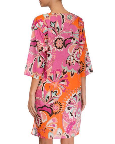 Sari Bijou Printed Beach Tunic