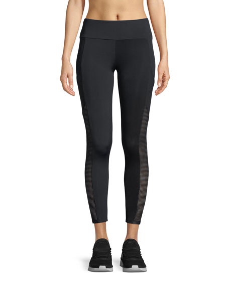 Lanston Rhys Mesh Cropped Pocket Leggings