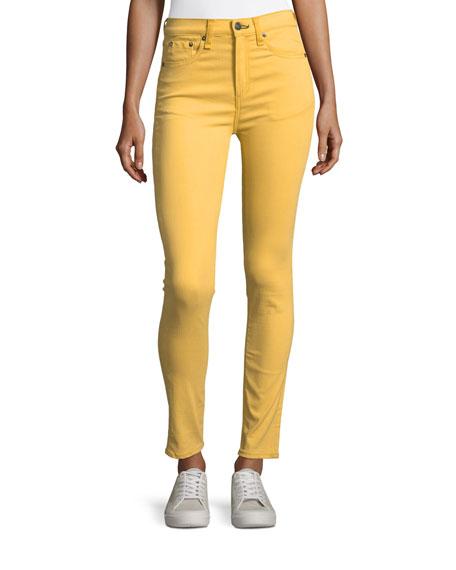 rag & bone/JEAN High-Waist Skinny Ankle Jeans, Sun