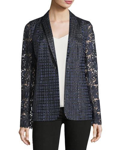 Rooney Lace-Sleeve Jacket
