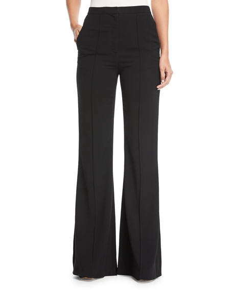 Diane von Furstenberg Pleat-Front Mid-Rise Flared-Leg Pants and