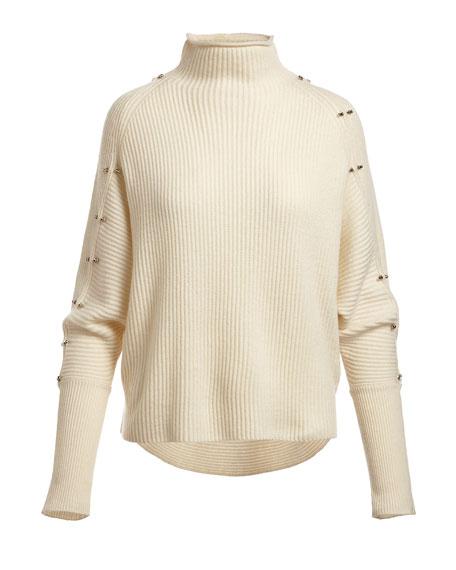 Easton Studded Turtleneck Sweater