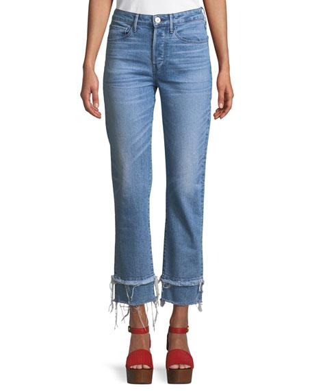 3x1 W3 Petal Slim Straight-Leg Cropped Jeans
