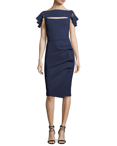 Image 1 of 2: Stanica Florian Skirt Tiered Short-Sleeve Cocktail Dress
