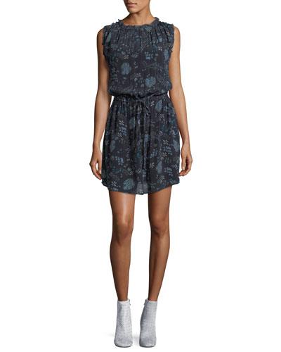 Raelyn Round-Neck Floral-Print Dress
