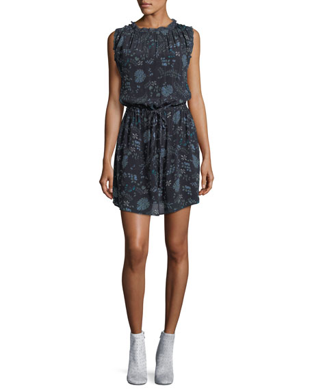 Raelyn Round-Neck Floral-Print Dress