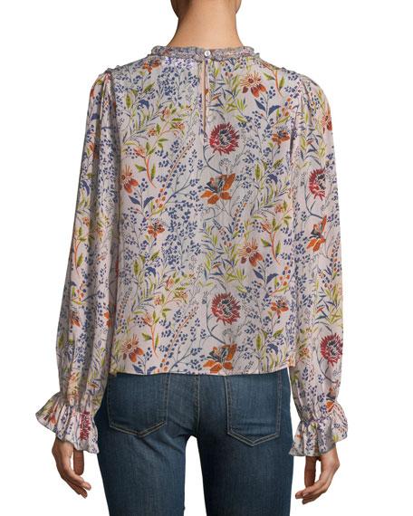 Malia High-Neck Floral-Print Top