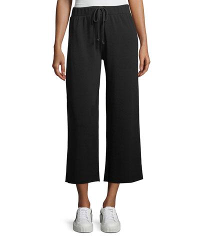 Avalyn Drawstring Wide-Leg Sweatpants