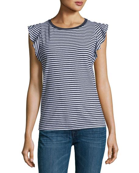 Margina Crewneck Sleeveless Striped Top
