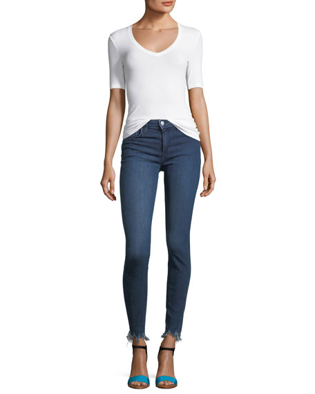 The Icon Skinny-Leg Ankle Jeans with Raw-Edge Hem