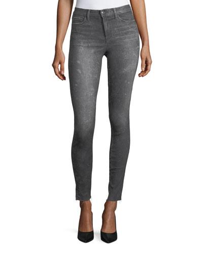 The Charlie Skinny-Leg Coated Jeans