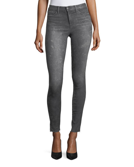 The Charlie Skinny Coated Jeans