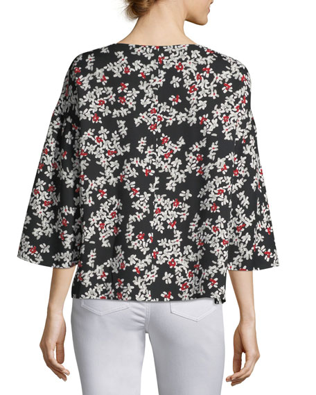 Gwendolyn Fresh Floral-Print Blouse, Plus Size