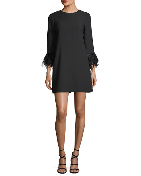 Club Monaco Cersy Round-Neck Crepe Shift Dress