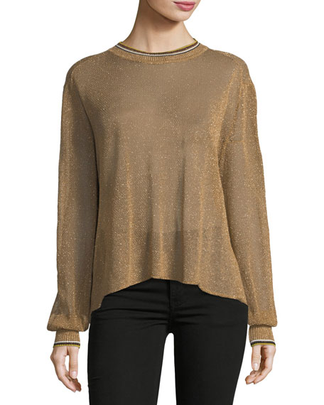 Giada Forte Crewneck Lurex® Oversized Sweater