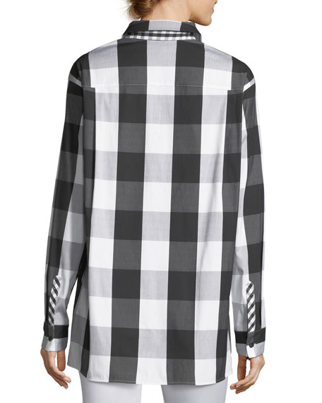 Jessie Seaway Check Shirting Blouse, Plus Size
