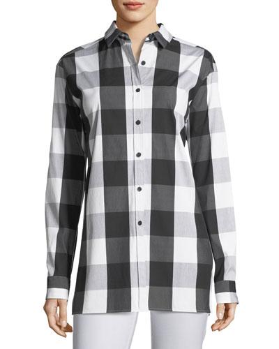 Jessie Seaway Check Shirting Blouse, Plus Size