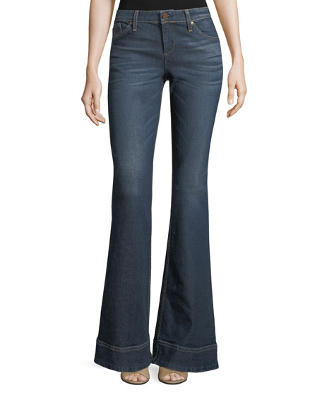 AO.LA by Alice+Olivia Beautiful Low-Rise Bellbottom Jeans