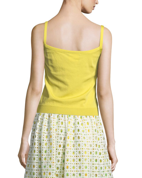 Bow-Trim Knit Tank
