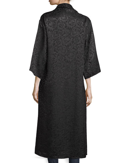 Kalena Open-Front Long Damask Kaftan