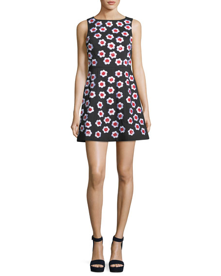 Alice + Olivia Lindsey Sleeveless A-Line Dress with