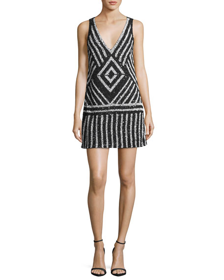 Venetia Embellished A-Line Short Dress