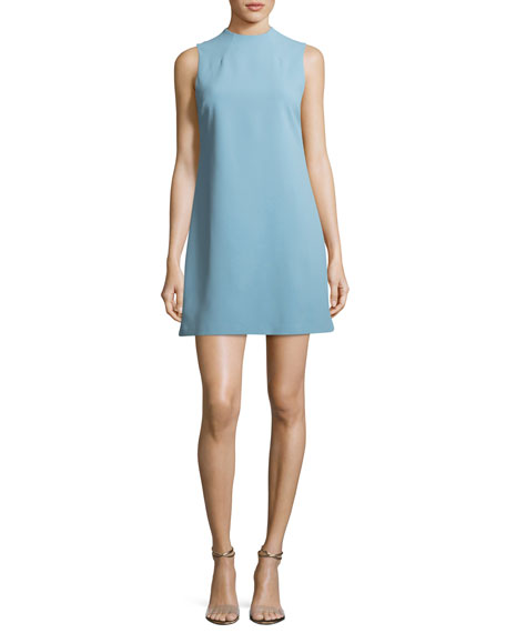 Alice + Olivia Coley Mock-Neck Sleeveless A-Line Mini