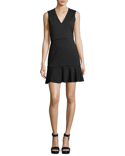 Onella V-Neck Sleeveless Fitted Dress