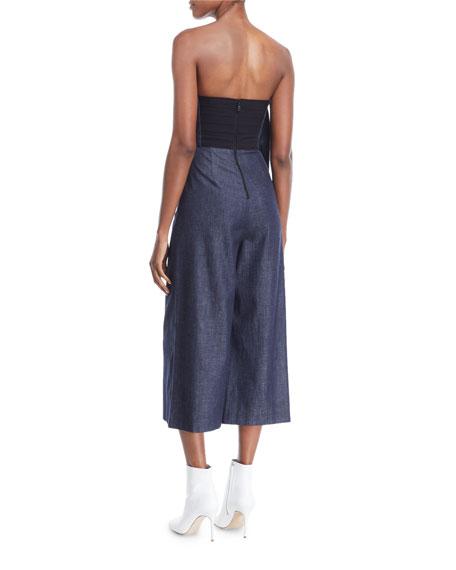 Elvire Strapless Wide-Leg Jumpsuit