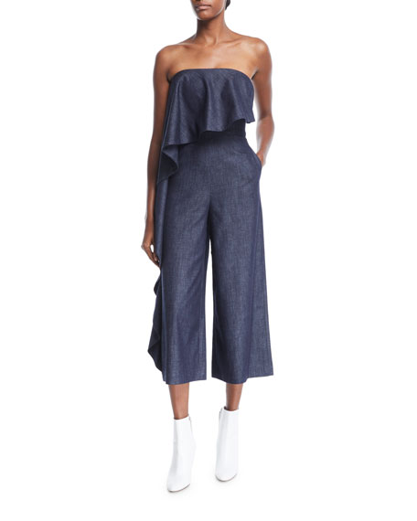 Alice And Olivia  ELVIRE STRAPLESS WIDE-LEG JUMPSUIT