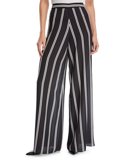 Athena Striped Wide-Leg Pants