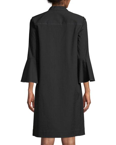 Lunella Stretch-Cotton Shirt Dress, Plus Size