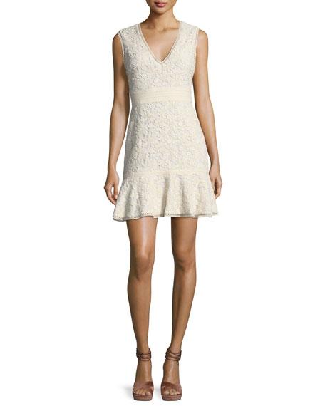 Onella V-Neck Sleeveless Lace Dress