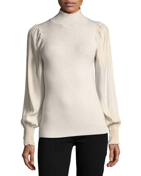 Turtleneck Merino Wool Pullover Sweater