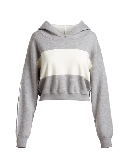 Kyle Double Knit Cropped Hoodie
