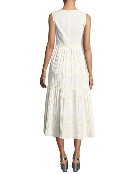 Long Tiered A-line Cotton Dress