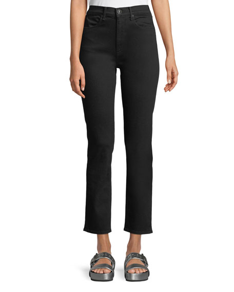 rag & bone/JEAN High-Waist Cigarette-Leg Ankle Jeans