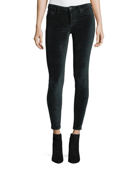 Hudson Barbara High-Rise Super-Skinny Velvet Ankle Jeans