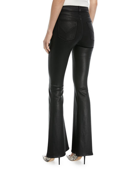 Bullocks High-Rise Lace-Up Flared-Leg Jeans