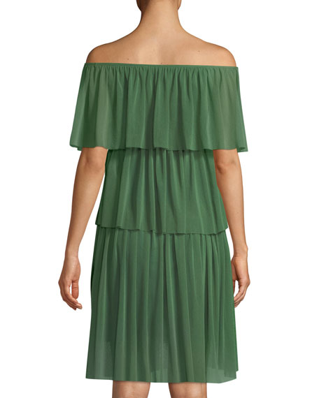 Three-Tier Off-the-Shoulder Ruffle Dress