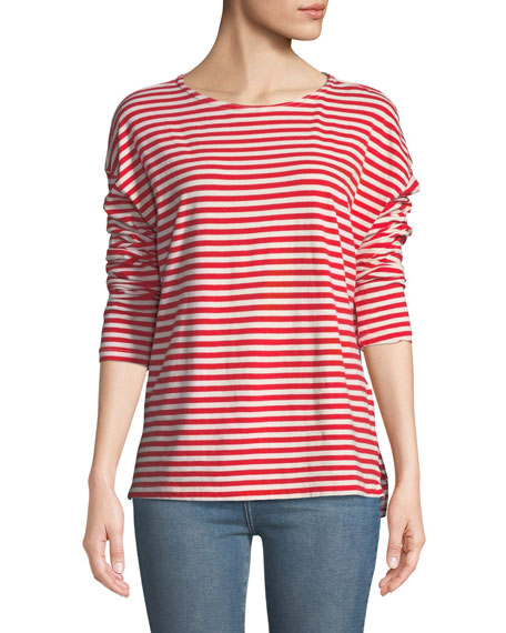 Current/Elliott The Breton Cotton Long-Sleeve T-Shirt