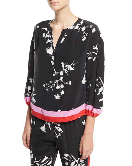 Joie Eliga Floral-Print Silk Blouse and Matching Items