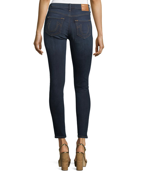 Halle High-Rise Super Skinny-Leg Ankle Jeans